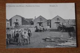 Carte Postale Ancienne Denain  Le Chantier Des Mines Pendant La Greve - Denain