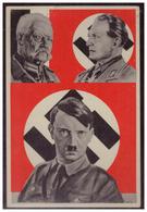Dt- Reich (W00069) Propagandakarte, Farbig, Hitler, Goering, Hindenburg Vor HK- Fahne, Extrem Selten, Ungebraucht - Briefe U. Dokumente