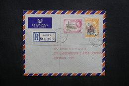 GHANA - Enveloppe En Recommandé De Accra Pour L 'Allemagne En 1959, Affranchissement Plaisant Surchargés - L 36928 - Ghana (1957-...)