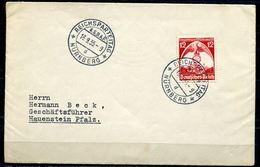 "German Empires 1935 Bedarfsbrief M. Mi.Nr.587 EF NS Tstp""Nürnberg-Reichsparteitag,NSDAP""1 Beleg - Deutschland"