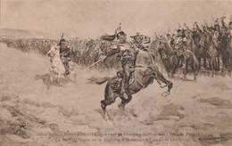 Art Peinture Peintre Desvarreux Salon 1906 Tableau Avant La Charge Colonel Guiot De La Rochere 1870 Cavalerie Cuirassier - Malerei & Gemälde