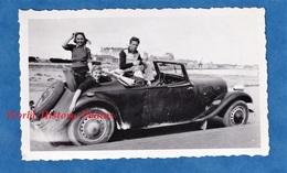 Photo Ancienne Snapshot - Superbe Portrait Sur Une Automobile TRACTION CITROEN ? Cabriolet - TOP - Cars