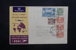 BIRMANIE - Enveloppe De Rangoon Pour Londres En 1952, Affranchissement Plaisant, Cachet De Terminal Au Verso - L 36933 - Myanmar (Birmanie 1948-...)