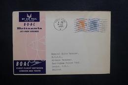 HONG KONG - Enveloppe 1er Vol Hong Kong / Londres En 1957 - L 36936 - Hong Kong (...-1997)