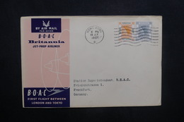 HONG KONG - Enveloppe 1er Vol Hong Kong / Londres Pour L 'Allemagne En 1957 - L 36937 - Hong Kong (...-1997)