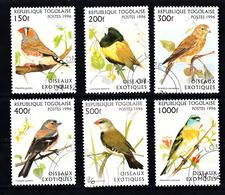 Togo 1996 Mi Nr  2473 - 2478,  Vogels, Bird - Togo (1960-...)