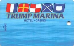 Trump Marina Casino Atlantic City NJ BLANK Slot Card - Casinokarten