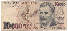 Brazil 10000 10.000 Cruzeiros 1991 (2) P-233a /001B/ - Brasilien