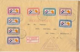 Curacao - 1941 - Complete Serie Sint Bernhard Comité Op Censored R-cover Naar San Diego / USA - Curaçao, Antilles Neérlandaises, Aruba