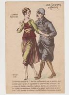 Carte Fantaisie .Les Leçons D'amour , L'amour Pervers / Couple , Soldat - Couples