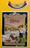 11170 - Rolle 1986 Pour Barque Château Et Vaudoise En Costume Suisse - Zeilboten & Zeilschepen