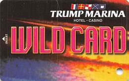 Trump Marina Casino Atlantic City NJ Slot Card  (BLANK Without *sm For Copyright) - Casinokarten