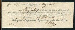 Bayern / 1836 / Postschein Ortsdruck Ansbach, Koenigl.Bay.Expedition Reitender Posten (21036) - Allemagne