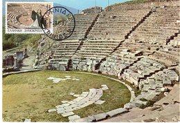 GRECE  LE THEATRE ANCIEN   Carte Maximum - Maximumkarten (MC)