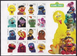 USA - 2019 - Sheet - Sesame Street Sheet X 16 Forever Stamps - Hojas Completas