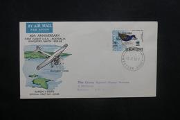 SAMOA - Enveloppe FDC En 1968 ( Oiseau Surchargé ) Pour Le Royaume Uni - L 36951 - Samoa