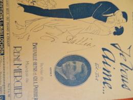 Partition Ancienne Succès De La Revue Marigny 1922 Je Vous Aime Gesky René Mercier Battaille Vertes - Noten & Partituren