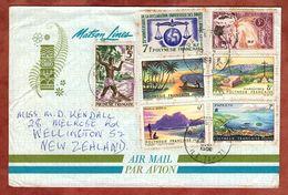 Luftpost, Menschenrechte U.a., Papeete Tahiti Nach Wellington 1966 (77162) - Französisch-Polynesien