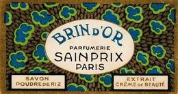 Carte Parfumée Sainprix Paris Brin D'or Savon - Anciennes (jusque 1960)