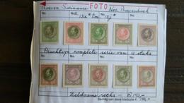Suriname - PROEVEN - Nrs. Proevenboek 13a T/m 13j - Surinam ... - 1975