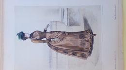 MODE- GRAVURE - IMPRIMERIE H. LEFEVRE PARIS -ABEL GOUBAUD EDITEUR - 1884 - Prints & Engravings