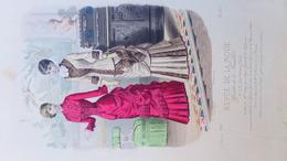MODE- GRAVURE - IMPRIMERIE FALCONER PARIS- ILLUSTRATEUR A. CHAILLOT - 1880 - Prints & Engravings