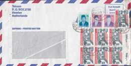 Indonesia  JAKARTA 1983 Cover Brief HEERLEN Netherlands 6-Block W. Margin Numbers M. Rände Nummer - Indonesien