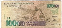 Brazil 100000 100.000 Cruzeiros 1992 (2) P-235a /001B/ - Brasilien
