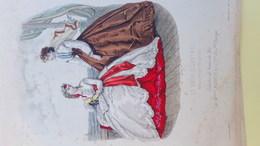 MODE- GRAVURE - IMPRIMERIE LEROY -TOILETTES BAINS DE MER MLLES RABOUIN - PARIS - 1865 - Prints & Engravings