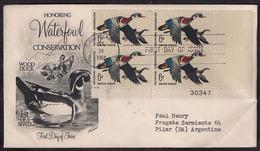 USA - 1968 - FDC - Lettre - Wood Duck - Canard Branchu - Canards