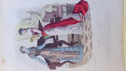 MODE- GRAVURE -EVENTAIL -PIANO -PARTITION MUSIQUE--GANTERIE LYON-PARFUMERIE NINON - IMPRIMERIE FALCONER - PARIS - 1881 - Prints & Engravings