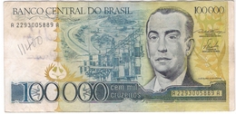 Brazil 100000 100.000 Cruzeiros 1985 (1) P-205 /001B/ - Brasile
