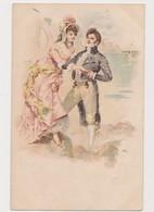 Carte Fantaisie / Couple En Bord De Mer - Paare