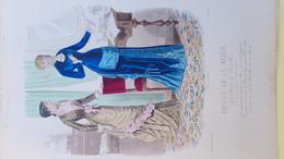 MODE- GRAVURE - PARFUMERIE NINON- GANTERIE LYON- - IMPRIMERIE FALCONER - PARIS - 1881 - Prints & Engravings