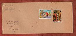 Luftpost Mit Inhalt, Weihnachten U.a., Aitutaki Cook Islands Nach Lower Hutt 1978 (77169) - Aitutaki