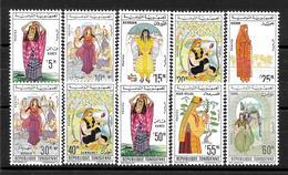 """TUNISIE : """"costumes Régionaux"""" Série 553 à 558B En Neuf ** (cote 21,oo €) - Tunesië (1956-...)"""