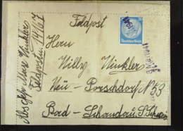 DR: Feldpost-Paket-Briefstück Vom 6. Mai 1941 Mit 20 Pf Hindenburg Nach Bad Schandau (Sächs. Schweiz) Feldpost-Nr: 14167 - Briefe U. Dokumente