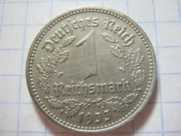 1 Reichsmark 1933 (D) - [ 4] 1933-1945 : Troisième Reich