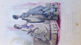 MODE- GRAVURE -ROBES EN FOULARD DE L' UNION DES INDES  - IMPRIMERIE MOINE ET FALCONER - PARIS - 1873- GONIN-LALLEMAND - Prints & Engravings