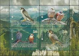 "MACEDONIA /NORTH-MACEDONIA /MAKEDONIEN -EUROPA 2019 -NATIONAL BIRDS.-""AVES -BIRDS -VÖGEL-OISEAUX""- HOJITA BLOQUE- CARNET - 2019"