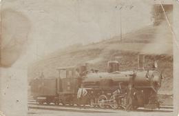 TRAINS - Austria Hungary 1900's - Bosnia - Steam Locomotive No 1002 - Real Photo Postcard - Trains