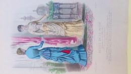 MODE- GRAVURE TOILETTES MME DELAUNOY-PARFUMERIE NINON-GANTS LYON  -IMPRIMERIE FALCONER -PARIS 1880-ILLUSTRATEUR CHEFFEN - Prints & Engravings