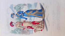 MODE- GRAVURE TOILETTES MME LESUEUR -PARFUMERIE NINON-GANTS LYON  -IMPRIMERIE FALCONER -PARIS 1880-ILLUSTRATEUR CHEFFEN - Prints & Engravings