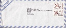 Argentina Via Aerea BUENOS AIRES 1972 Cover Letra DEUTSCHE BANK Köln Germany 2x Aeroplane Stamps - Argentinien