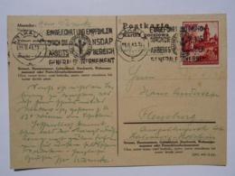 1943 DR Postkarte Krakau Pmk NSDAP Arbeitsbereich Generalgouvernement - Lettres & Documents