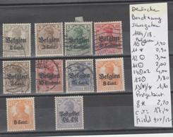 TIMBRES NEUF(*) /*/ ° / D ALLEMAGNE BESETZUNGSAUSGABEN 1914/18 Nr VOIR SUR PAPIER AVEC TIMBRES  COTE   17.10  € - Zone Belge