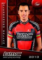 CARTE CYCLISME ALESSANDRO BALLAN TEAM BMC 2010 SERIE BUSTE - Cycling