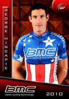 CARTE CYCLISME GEORGE HINCAPIE TEAM BMC 2010 SERIE BUSTE - Cycling