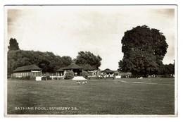 Real Photo PC - Bathing Pool - Sunbury 29 - 1955  - 2 Scans - Surrey