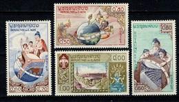 Laos 1958 Yv 51/54**,  Mi 85/88** MNH - Laos